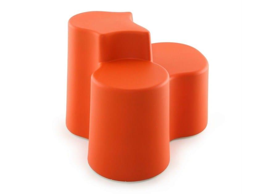 Upholstered garden pouf ISLAND - AREA DECLIC