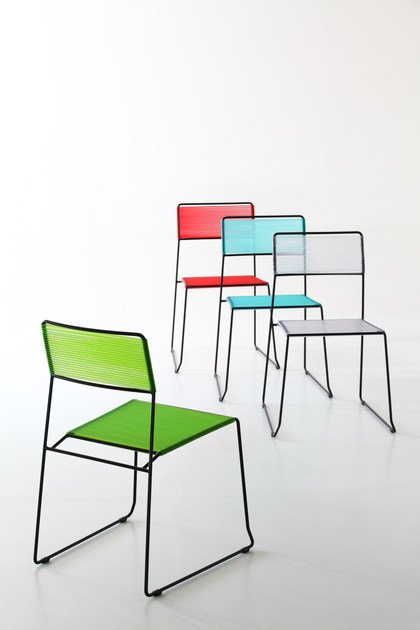 Sled base stackable chair LOG SPAGHETTI - AREA DECLIC