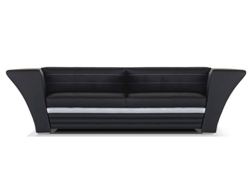 Leather sofa with headrest avatar moderno collection by - Sofa rinconera moderno ...