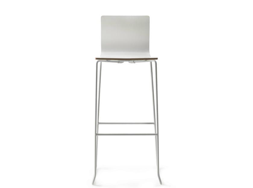 Sled base counter stool with footrest DANE 75 - ONDARRETA