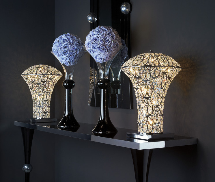 lampada da tavolo con cristalli arabesque exclamation | lampada da ... - Larabesque Lampade