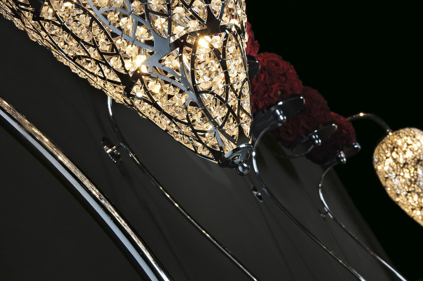 lampada da terra con cristalli arabesque heartbeat | lampada da ... - Larabesque Lampade
