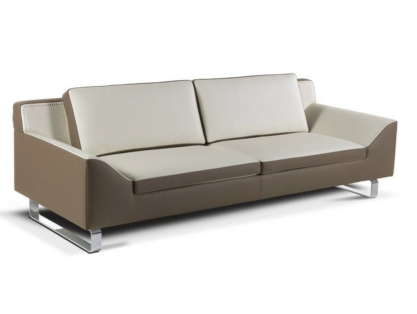 Sled base leather sofa JASON - Formenti
