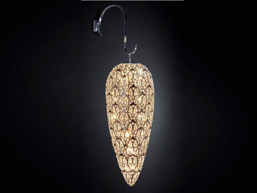 Wall lamp with crystals ARABESQUE HEARTBEAT | Wall lamp by VGnewtrend