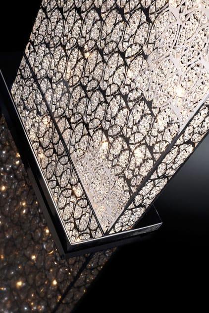 lampada da terra con cristalli arabesque rectangular separe ... - Larabesque Lampade