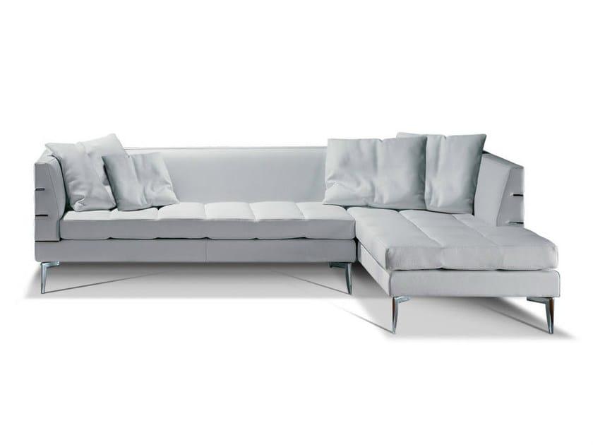 Corner leather sofa PRESTIGE | Corner sofa - Formenti
