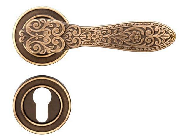 Brass door handle with lock FIORENZA | Door handle with lock - dnd by Martinelli