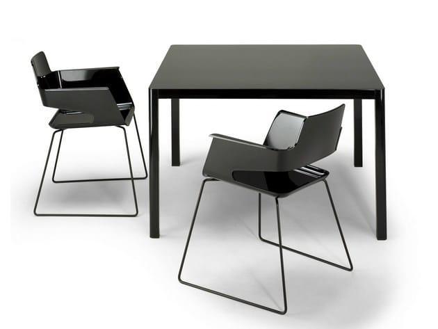 Square HPL table LA TABLE 80X80 | Square table - AREA DECLIC