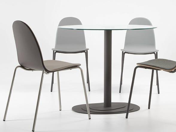 Round steel table TRIO 75 - ONDARRETA