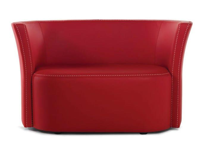 Leather small sofa FLUT | Small sofa - Formenti