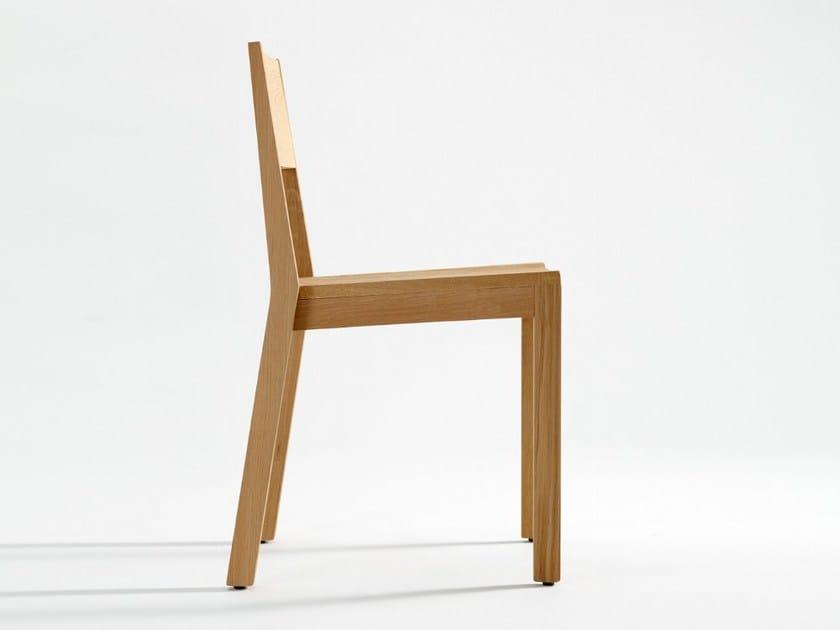 Stackable wooden chair IESU by ONDARRETA