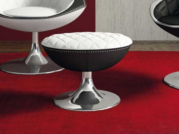 Leather footstool VELA | Footstool by Formenti