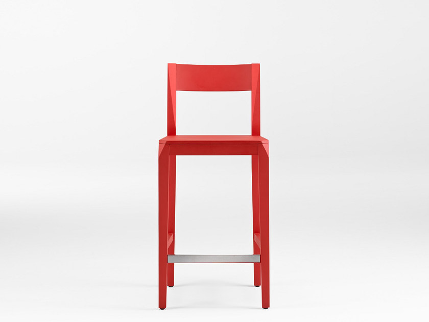 Counter stool with footrest MISTER 65 - ONDARRETA