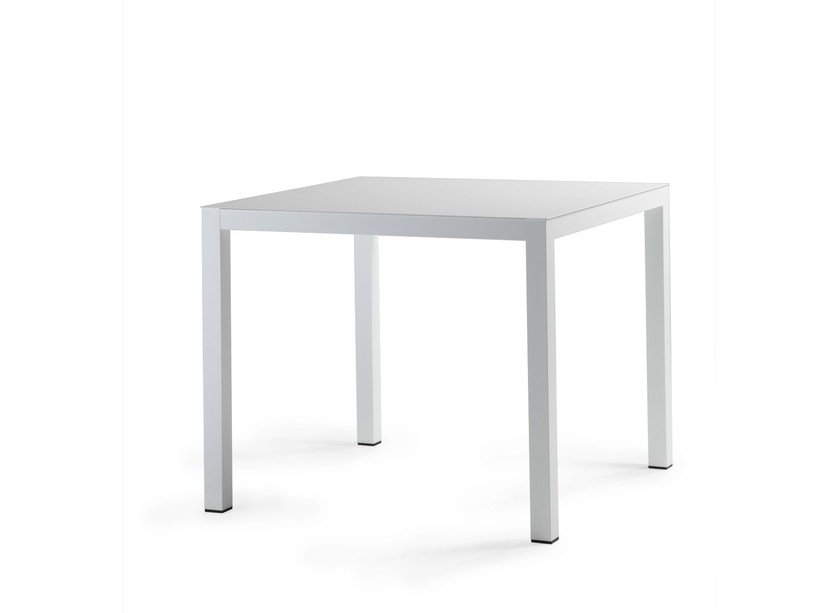 Web 90x90 aluminium table by area declic for Table 90x90 design