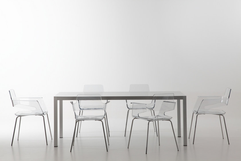Rectangular aluminium table WEB TABLE | Aluminium table - AREA DECLIC