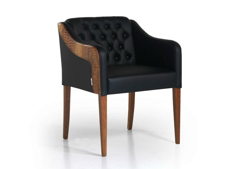 Tufted leather easy chair MODERNO | Tufted easy chair - Formenti