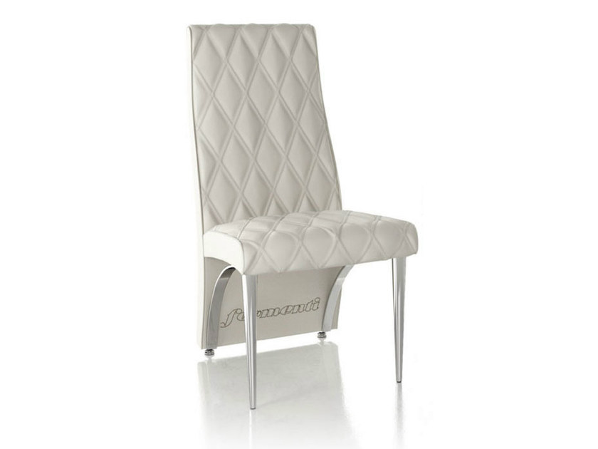 Upholstered leather chair SANDY - Formenti