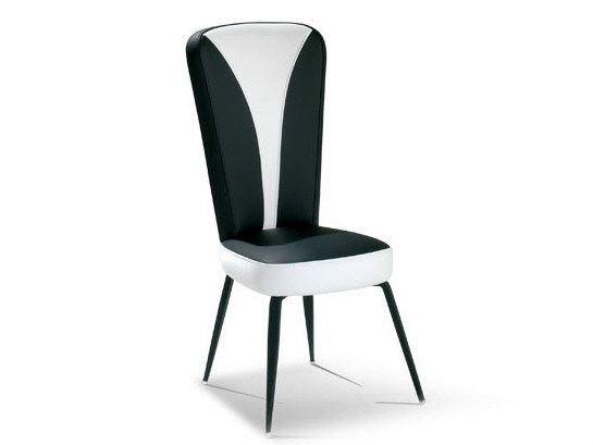Upholstered leather chair NEIDA - Formenti