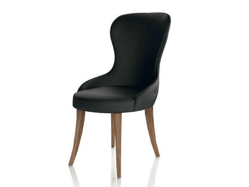 Upholstered leather chair CHARME | Contemporary style chair - Formenti