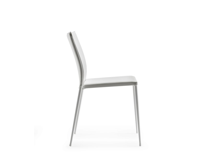 Upholstered stackable chair MOKA - ONDARRETA