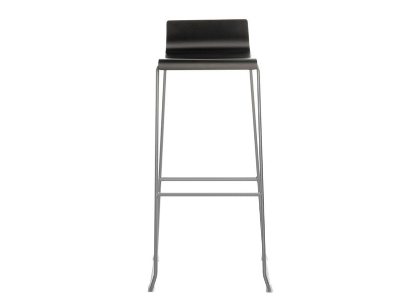Sled base stool with footrest NOA 75 - ONDARRETA