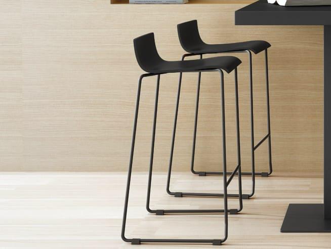 Sled base stool with footrest NOA 65 - ONDARRETA