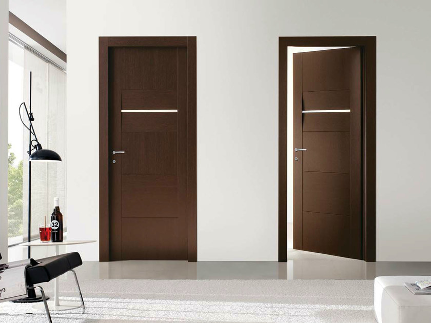 Hinged wenge door fly planet collection by door 2000 by for Gruppo door 2000 spa