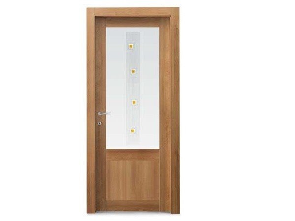 Hinged decorated glass door siros maree collection by door for Gruppo door 2000 spa