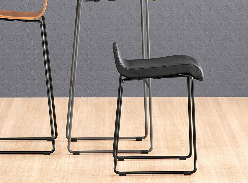 Upholstered sled base stool NOVA 45 - ONDARRETA