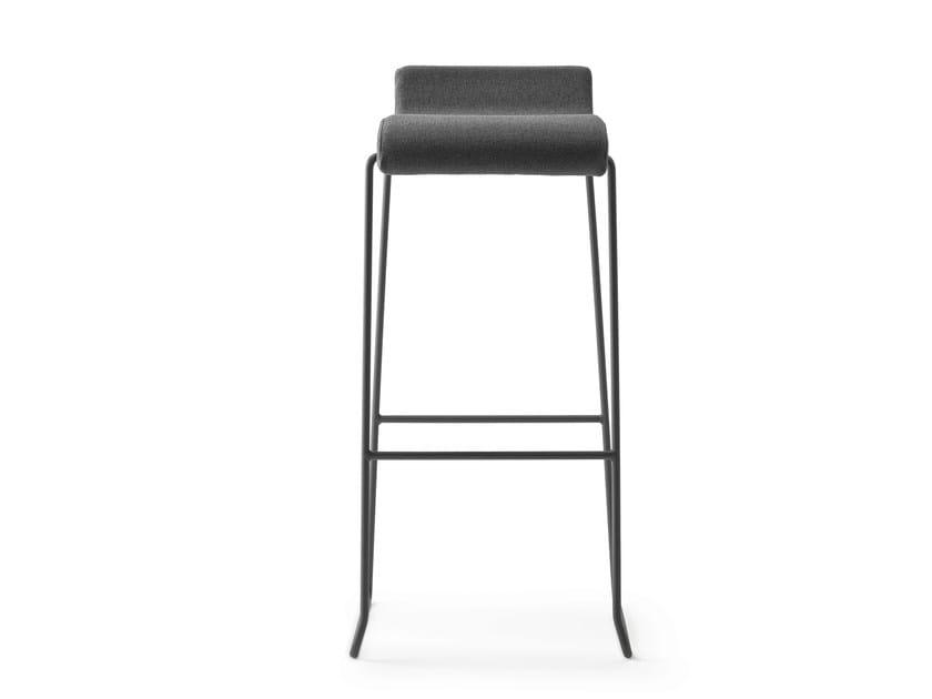 High sled base stool with footrest NOVA 75 by ONDARRETA