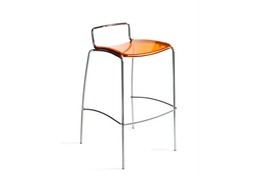 High polycarbonate stool with footrest SOL | Stool - AREA DECLIC