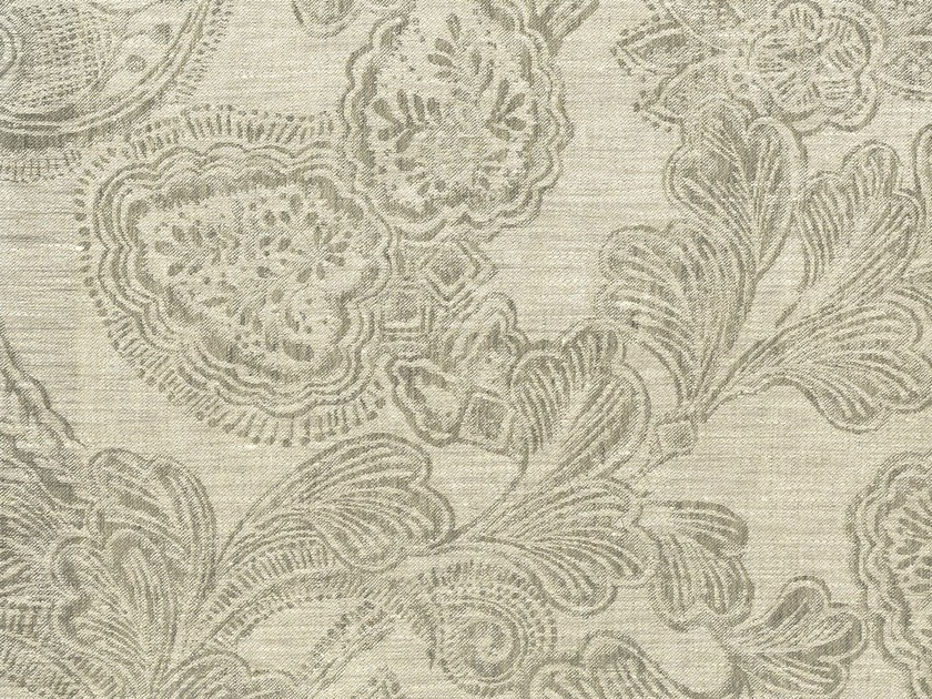 Damask linen fabric AQUITAINE by KOHRO