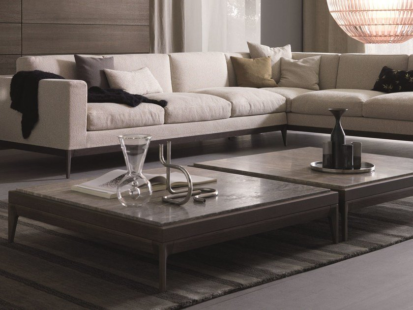 Square solid wood coffee table for living room ANTIBES | Coffee table by MisuraEmme