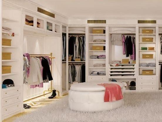 Wooden walk-in wardrobe OXFORD | Walk-in wardrobe - Turati & C.