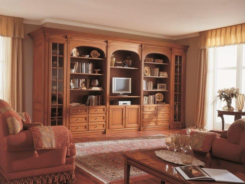 Parete attrezzata in stile classico delfi turati c for Master arredamento interni