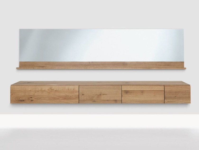 Suspended wooden sideboard PODEST | Suspended sideboard - ZEITRAUM