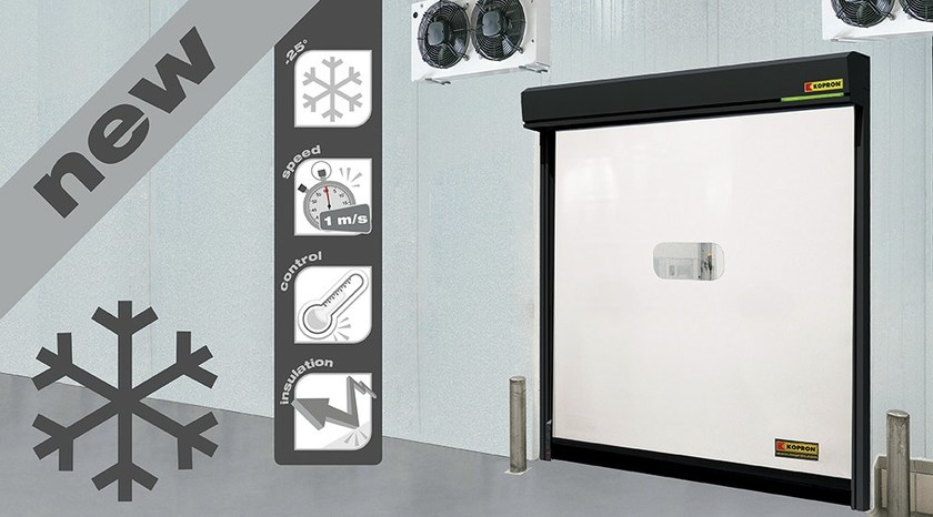 Rapid vertical roll-up door FAST COLD - Kopron