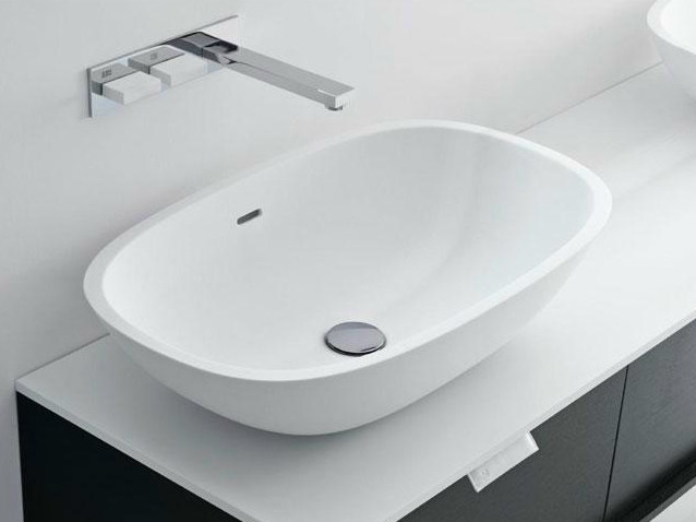 Countertop oval Cristalplant® washbasin SCOOP | Countertop washbasin by FALPER