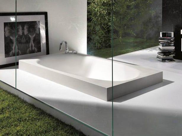 Semi-inset Cristalplant® bathtub SHAPE | Bathtub - FALPER