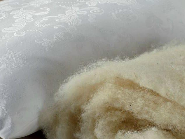 Rectangular wool pillow SOFFICE LANA VERGINE by Demaflex
