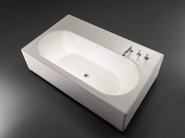 Freestanding rectangular Pietraluce® bathtub PEACE HOTEL | Bathtub - FALPER