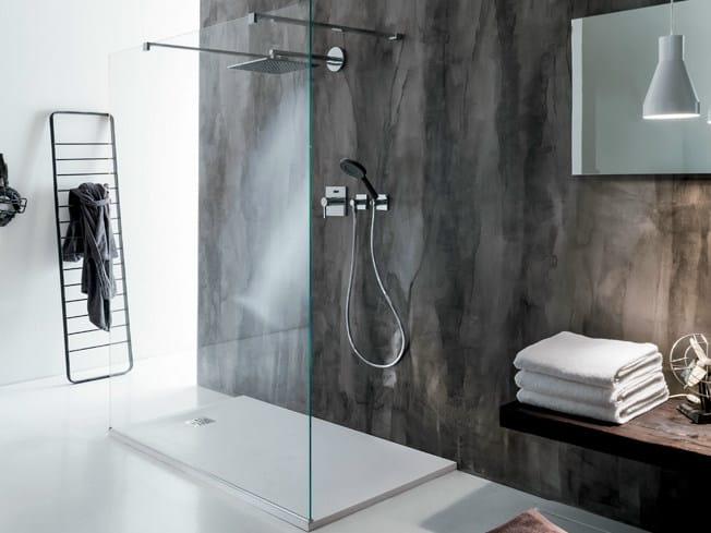 Rectangular crystal shower cabin PARETE by FALPER