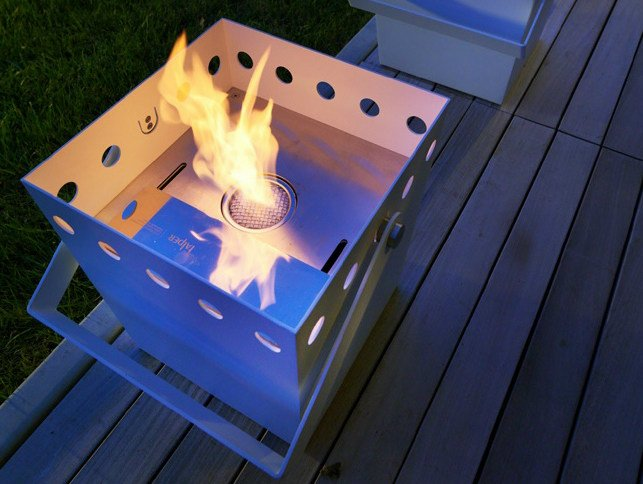 Outdoor bioethanol metal fireplace SECCHIELLO - FALPER