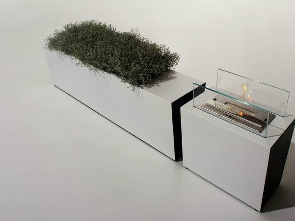 Metal planter FOLIOVASO - FALPER