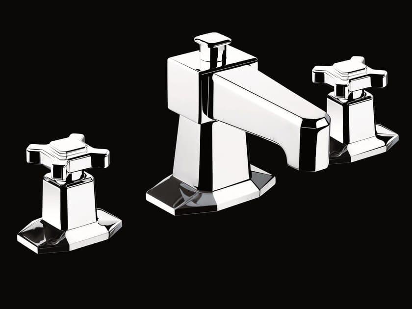 rubinetto per lavabo a 3 fori da piano collezione art d co by volevatch. Black Bedroom Furniture Sets. Home Design Ideas