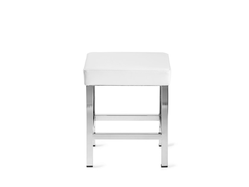 Low upholstered imitation leather stool CLUB 417 by Mara