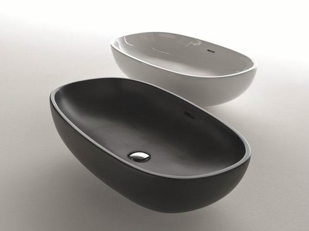 Countertop oval ceramic washbasin D4K | Ceramic washbasin - FALPER