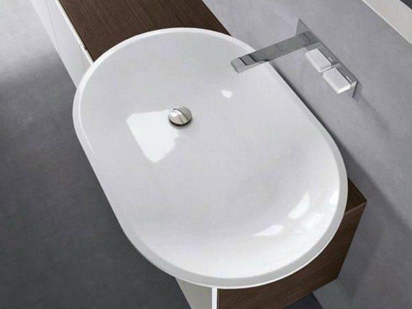 Countertop oval Pietraluce® washbasin H10   Washbasin - FALPER