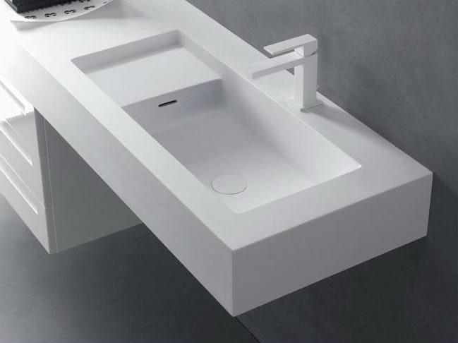 Cristalplant® washbasin countertop SQUARE H15 - FALPER