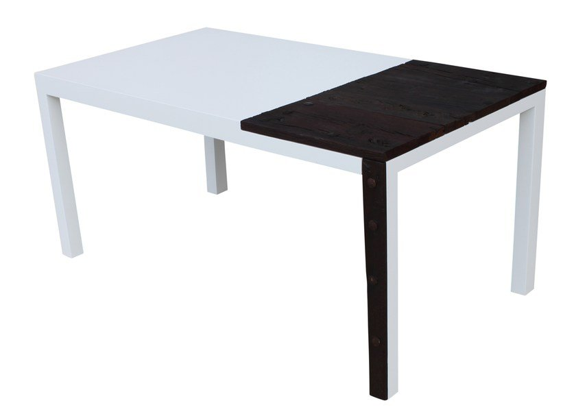 Lacquered custom wooden table FASSINA - ICI ET LÀ
